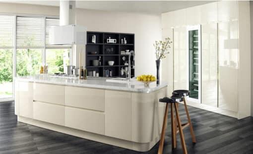 Riley James Siddington Gloss Ivory Kitchen