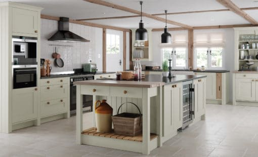 Burleigh painted Mussel, Main, from Riley James Kitchens Stroud