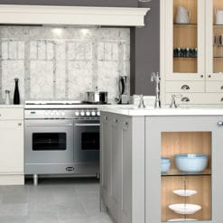 Burleigh painted Porcelain and Stone kitchen, Island, from Riley James Kitchens Stroud