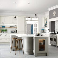 Burleigh painted Porcelain and Stone, Main, from Riley James Kitchens Gloucestershire
