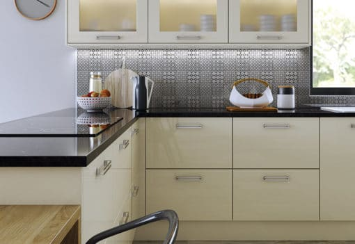 Cerney Gloss Ivory, from Riley James Kitchens Gloucestershire