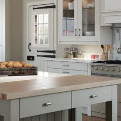 Cherington-painted-porcelain-stone-kitchen-cabinets-canopy - from riley James Kitchens Stroud