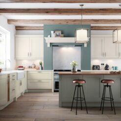 Cherington-painted-porcelain-stone-kitchen-main - from Riley James kitchens Stroud