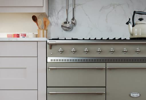 Cherington-painted-stone-kitchen-cabinets-modular-pilaster - from Riley James Kitchens Gloucestershire