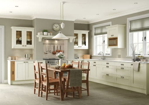 The Kemble Shaker Kitchen - Ivory Main from Riley James Kitchens Stroud