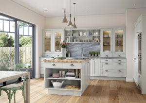 The Kemble Light Grey Kitchen - Traditional Kitchens from Riley James Kitchens. Bespoke Kitchens Gloucestershire