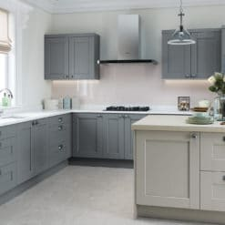 The Kemble Shaker Kitchen - Light Grey and Dust Grey Main Shoot - Riley James Kitchens Stroud