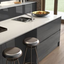 Siddington Gloss Graphite and Porcelain Cameo 1, from Riley James Kitchens Stroud