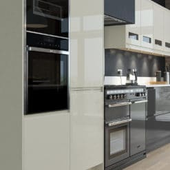 Siddington Gloss Graphite and Porcelain Cameo 2, from Riley James Kitchens Gloucestershire