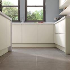 The Siddington Matte Kitchen, Porcelain, and The Tetbury Kitchen, Light Oak Cameo 1- Bespoke Kitchens Gloucestershire - Riley James Kitchens Stroud