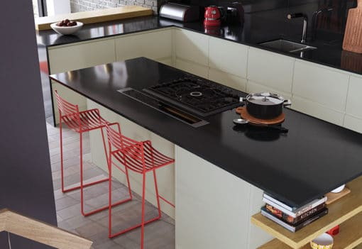 Siddington matte mussel painted kitchen island, from Riley James Kitchens Stroud