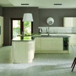 Siddington Gloss Ivory concave Main - from Riley James Kitchens Stroud