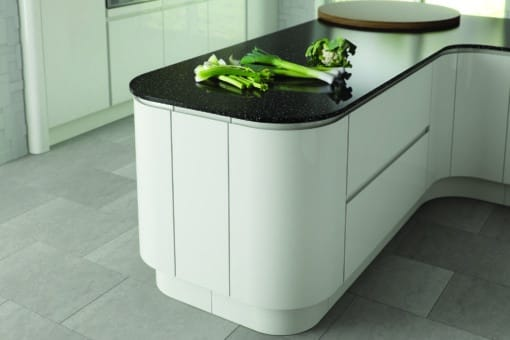 Siddington Gloss White concave Cameo from Riley James Kitchens