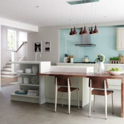 Tewkesbury shaker Kitchen - mussel kitchen hero, from Riley James Kitchens Gloucestershire