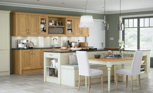 malborough-oak-painted-ivory-kitchen-hero - from Riley James Kitchens Gloucestershire