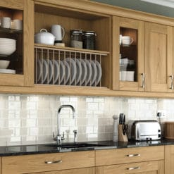 malborough-oak-kitchen-wall-units-plate-rack - from Riley James Kitchens Stroud