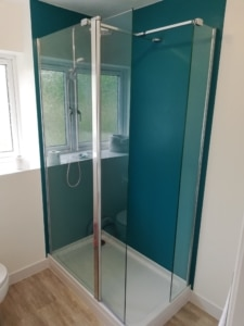 Riley James Bathroom Installation - Shower and Altro Titanium Panels 1