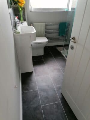 Cam Bathroom - Door view 1, from Riley James Bathrooms Stroud