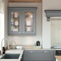 Cherington Dust Grey & Porcelain - from Riley James Kitchens Stroud