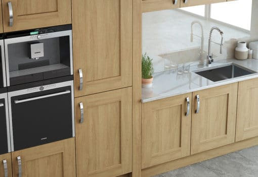 The Oakridge Kitchen, Oak Painted Stone - An Oak Shaker Kitchen from Riley James Kitchens Gloucestershire
