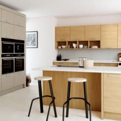 The Tetbury Kitchen - Light Oak & Painted - Bespoke Kitchens Gloucestershire - Riley James Kitchens Stroud