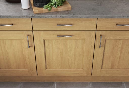 The Woodchester Shaker Kitchen - Light Oak kitchen cabinets, from Riley James Kitchens Stroud