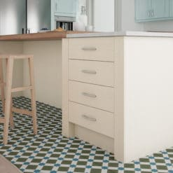 The Woodchester Kitchen Ivory kitchen cabinets, 100mm Pilaster- from Riley James Kitchens Stroud