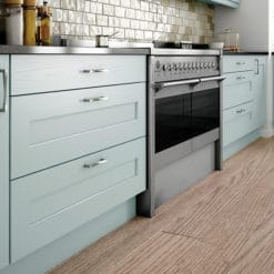 The Woodchester Kitchen - Ivory and powder blue kitchen drawers, from Riley James Kitchens Stroud