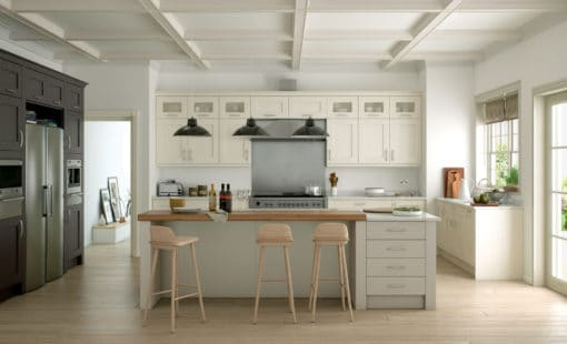 The Woodchester Kitchen - Ivory Stone and Lava kitchen hero, from Riley James Kitchens Stroud