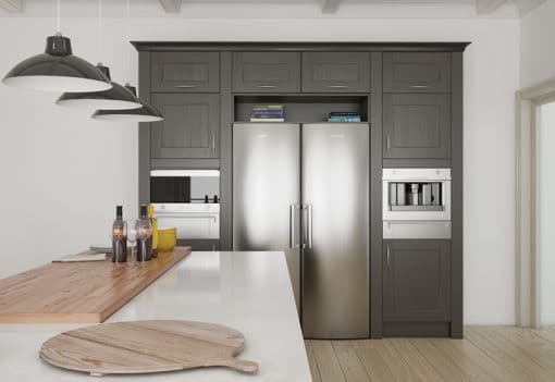 The Woodchester Kitchen - lava kitchen cabinets, from Riley James Kitchens Stroud