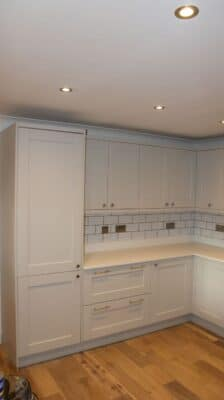 The Kemble Kitchen, Painted Light Grey - Riley James Kitchens, Gloucestershire - Install 1373/1
