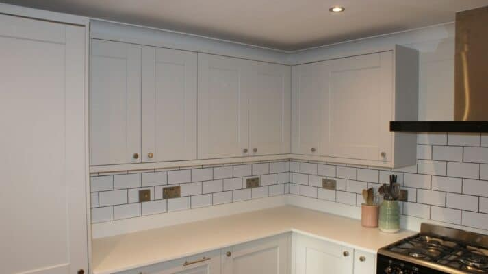 The Kemble Kitchen, Painted Light Grey - Riley James Kitchens, Gloucestershire - Install 1373/2