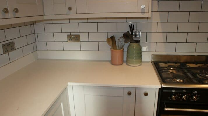 The Kemble Kitchen, Painted Light Grey - Riley James Kitchens, Gloucestershire - Install 1373/3