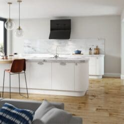 Cerney Matte White - by Riley James Kitchen Gloucestershire