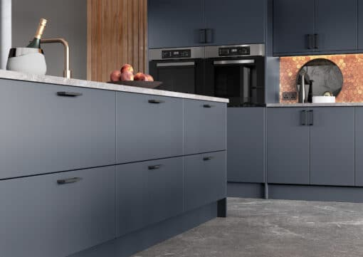 Cerney Painted Matte Slate Blue Cameo 2 - by Riley James Kitchen Gloucestershire