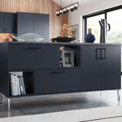 Cerney Painted Matte Slate Blue Cameo 3 - by Riley James Kitchen Gloucestershire