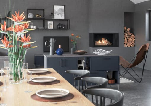Cerney Painted Slate Blue Cameo 4 - by Riley James Kitchen Gloucestershire