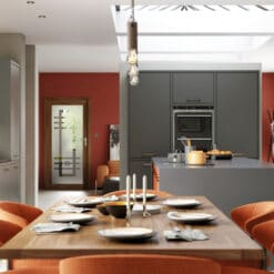 Cerney Matte Orange, Dust Grey and Graphite_Cameo 1 - by Riley James Kitchens