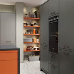 Cerney Matte Orange, Dust Grey and Graphite_Cameo 3 - by Riley James Kitchens