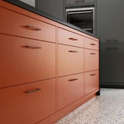 Cerney Matte Orange, Dust Grey and Graphite_Cameo 6 - by Riley James Kitchens