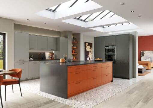The Cerney Painted Matte Orange, Dust Grey and Graphite Main Shoot - by Riley James Kitchens