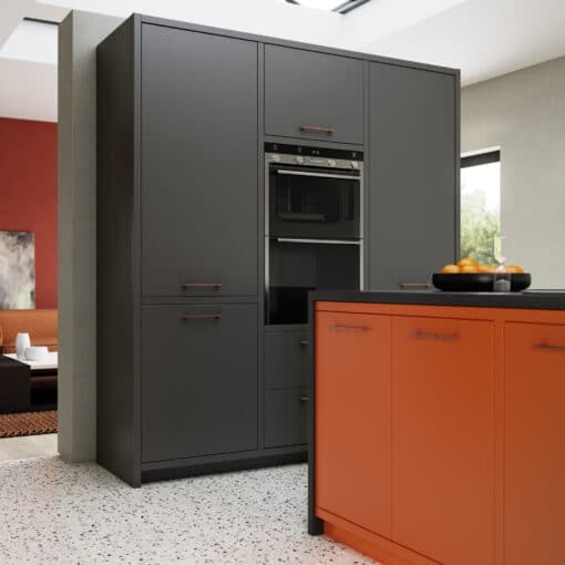 Cerney Matte Orange, Dust Grey and Graphite Cameo 4 - by Riley James Kitchens