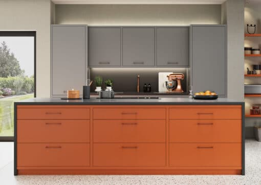 Cerney Painted Orange, Dust Grey and Graphite_Cameo 5 - by Riley James Kitchens