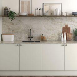 The Cerney Soft Matte Handleless Kitchen in Porcelain - Bespoke Kitchens Gloucestershire - Riley James Kitchens Stroud