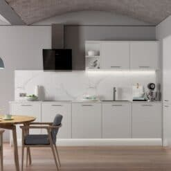 The Cerney Soft Matte Handleless Kitchen in Light Grey - Bespoke Kitchens Gloucestershire - Riley James Kitchens Stroud