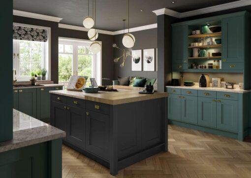 Cherington Viridian & Graphite - from Riley James Kitchens Stroud