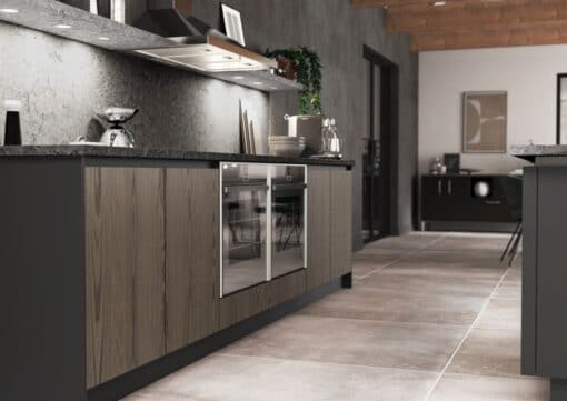 Cricklade stained Truffle Grey and Cerney Matte Graphite_Cameo 1_ - By Riley James Kitchens, Stroud