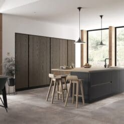 Cricklade stained Truffle Grey and Cerney Matte Graphite_Cameo 2_ - By Riley James Kitchens, Stroud