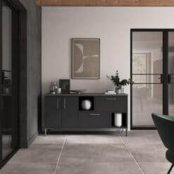 Cricklade stained Truffle Grey and Cerney Matte Graphite_Cameo 3_ - By Riley James Kitchens, Stroud