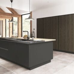 Cricklade stained Truffle Grey and Cerney Matte Graphite_Cameo 6_ - By Riley James Kitchens, Stroud